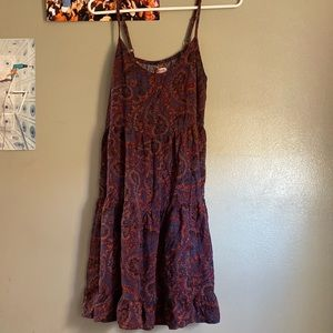 Paisley print mini dress